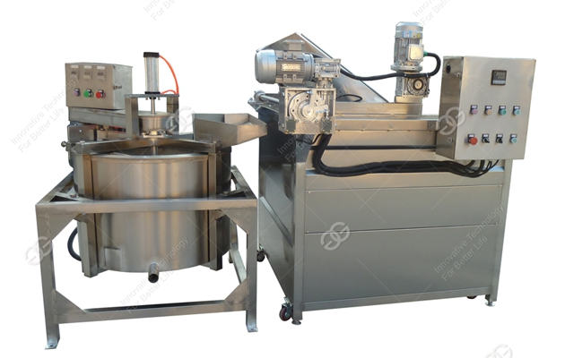 Frying Machinery Potato Chips Peanut Beans Continuous