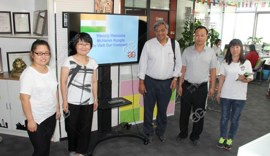 Indian Customer Visiting For Instant Noodle Production Line