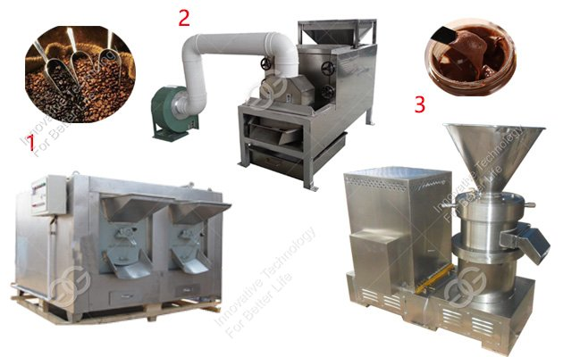 Cocoa Beans Processing Machine Line Cocoa Bean Roaster